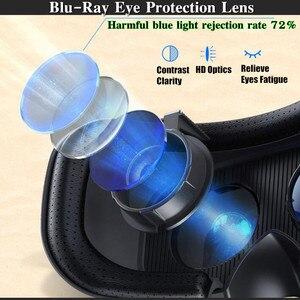 Image 5 - Blu Ray VR realtà virtuale scatola per occhiali 3D Stereo VR Google casco per cuffie in cartone per Smartphone Android IOS, Bluetooth Rocker