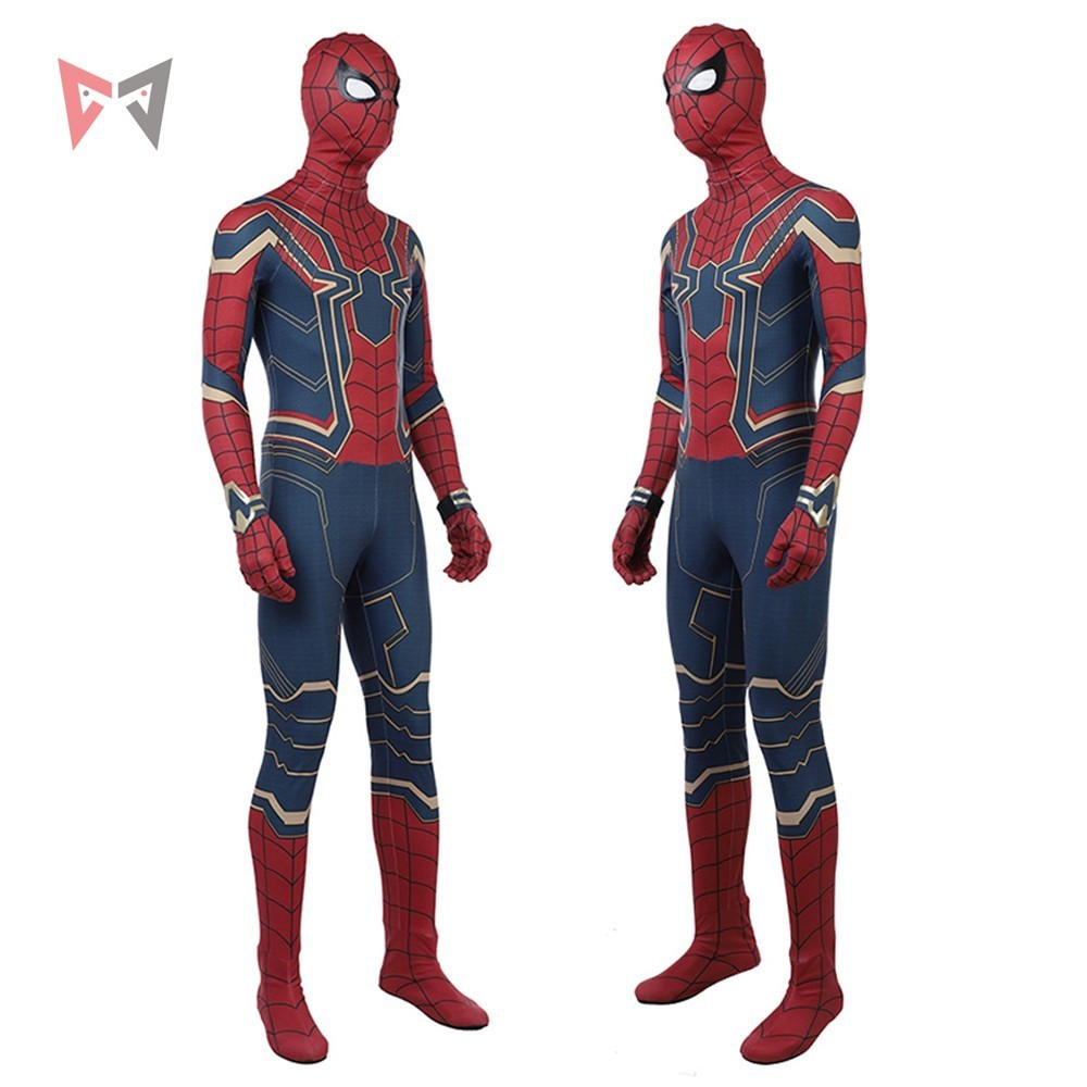 MMGG movie Avengers Iron spider jumpsuit Cosplay Costume battle suit 3D Printed Bodysuit Custom Made