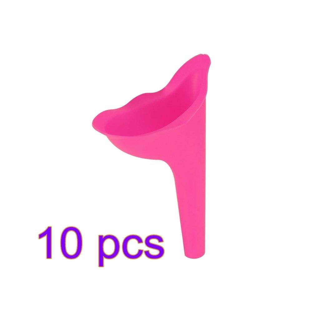 10 Stücke Hohe Qualität Tragbare Frauen Camping Urin Gerät Trichter Urinal Weiblich Reise Wasserlassen Wc Frauen Stehen Up & Pee Weichen