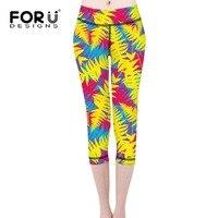 Forudesigns мода гетры женщин тропические листья 3d печати сексуальная сельма девушки фитнес леггинсы высокая талия стретч брюк брюки