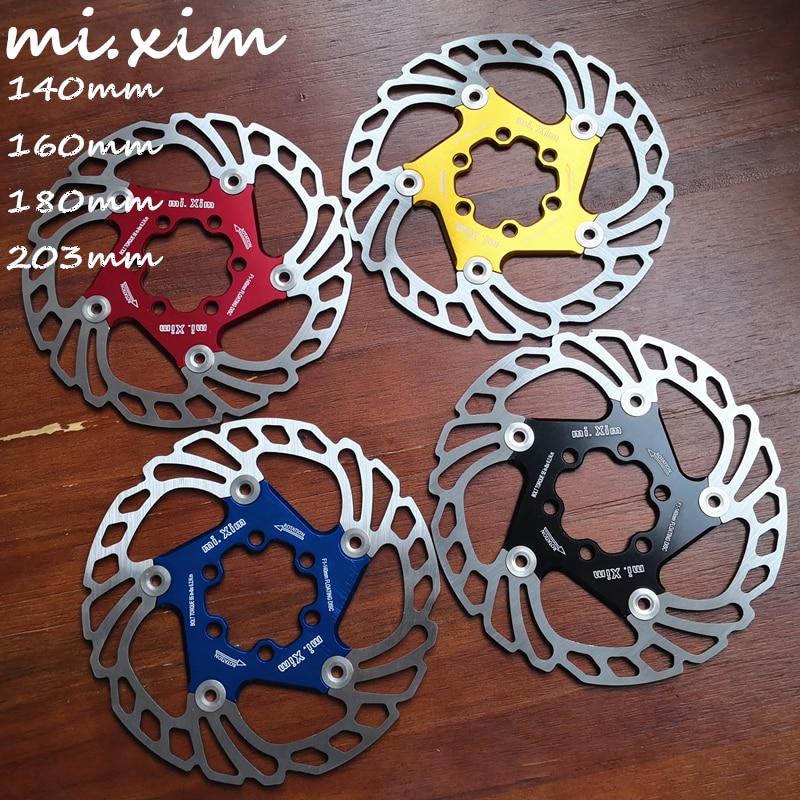 2019 New MTB 140/160/180/203mm Bicycle brake disc Road Floating Bicycle Brake Six Nail Disc for Mountain Bike Brake Rotors