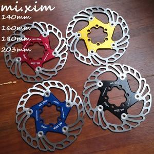 2019 New MTB 140/160/180/203mm Bicycle brake disc Road Floating Bicycle Brake Six Nail Disc for Mountain Bike Brake Rotors(China)