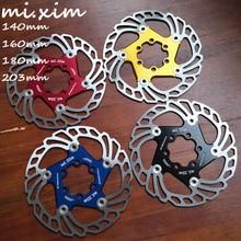 Disco de freio flutuante para bicicleta, novo, mtb, 2019/140/160/180mm, seis unhas disco para rotores de freio de bicicleta de montanha