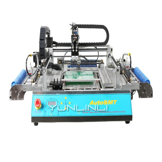 Automatic Chip Mounter Machine High Speed Chip Shooter With SMT3 Visual 3MARK Pneumatic D600