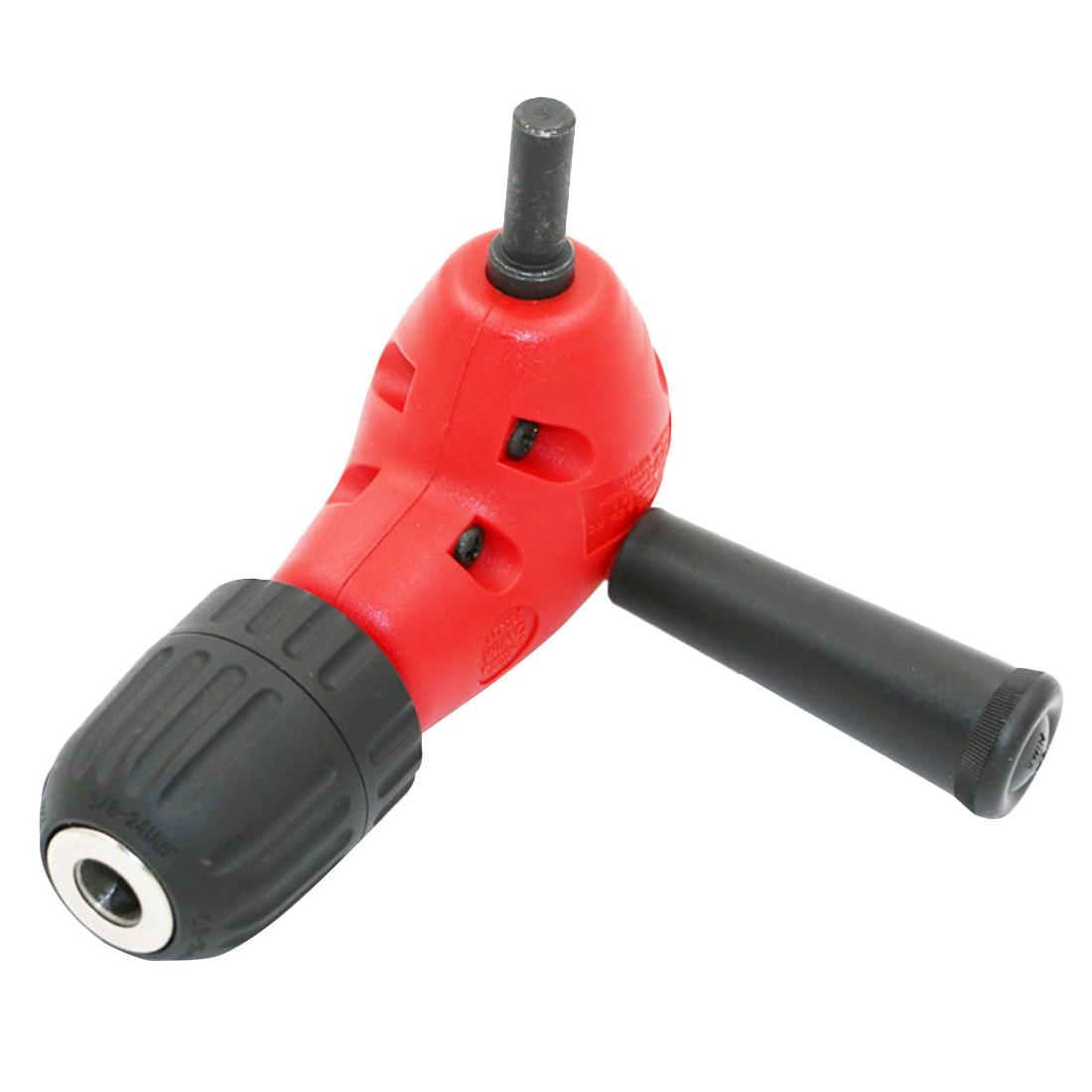 90 Degree Angled Drill Chuck Universal Drill Bit For Metal Adapter Screwdriver Corner Easily Locks