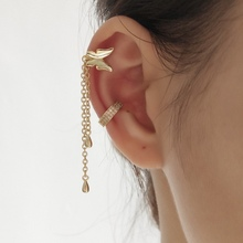 все цены на 2019 Elegant micro pave cz circle 925 sterling silver CZ earrings no pierced small sized girl earring cuff Gold Women Jewelry онлайн