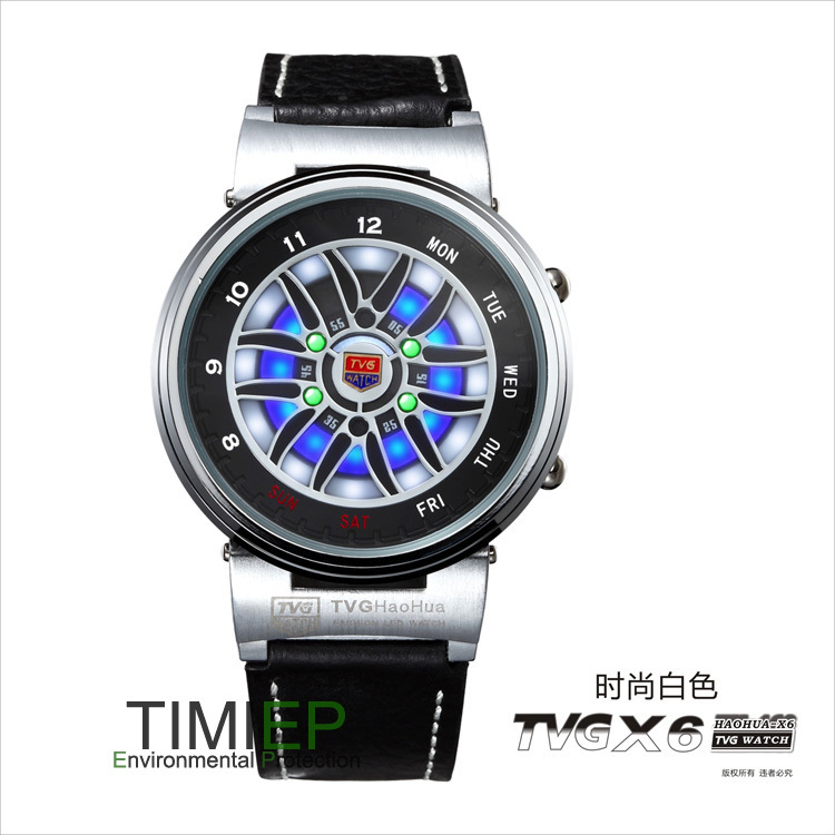 Tvg Pride New Design Led Binary Mens Sport Wrist Watches X6 Waterproof Wholesale China Flash Digital Watches