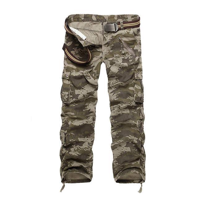 haut de gamme authentique célèbre marque de designer paquet à la mode et attrayant € 25.94 48% de réduction|Grande grande taille nouveau pantalon tactique  militaire hommes Camouflage Cargo pantalon homme salopette pantalon ...