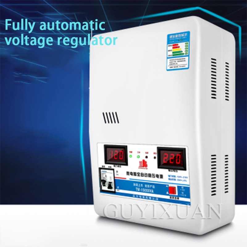 15KW Automatic Voltage Regulator Household High Power 220v Air Conditioning Ultra Low Voltage AC Single Phase Voltage Regulation