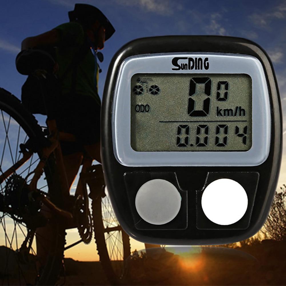 Wireless Bicycle Computer Speedometer Odometer Multifunction Green LCD Backlight Waterproof Bike Computer