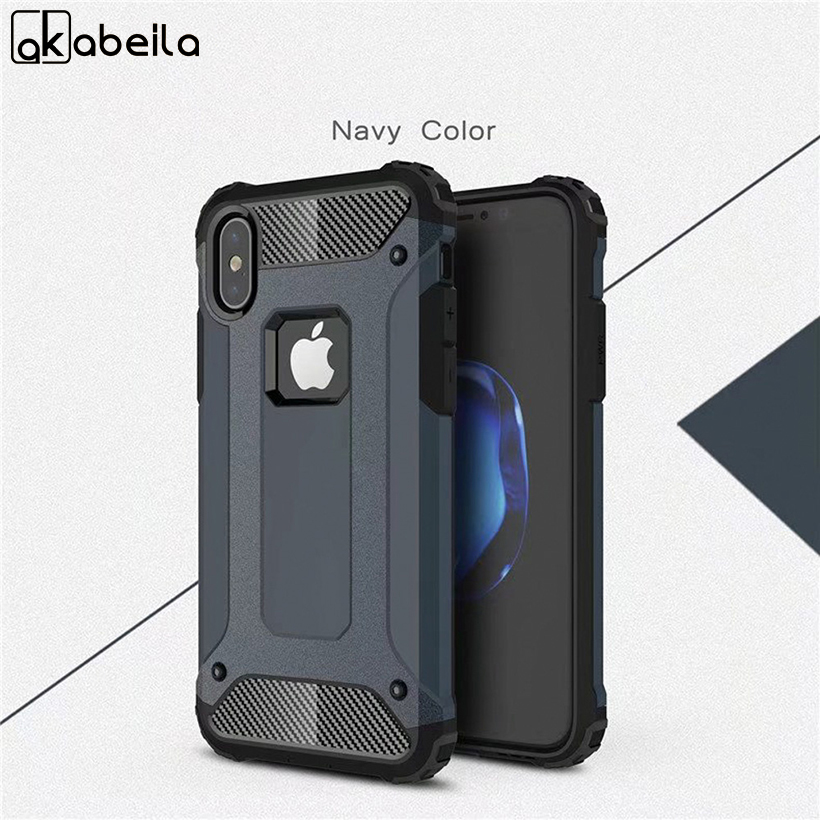 AKABEILA Phone Cover Cases For Apple iPhone X iPhone 10 iPhone Ten 5.8 inch Case Combo Robot Phone Bags Back Covers Coque