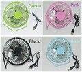Usb del metal del ventilador de escritorio ventilador eléctrico mini ventilador de dibujos animados ventilador eléctrico silencioso ventilador portátil de mano