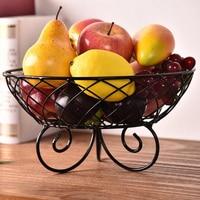 High quality Fruit Storage Basket Household Iron Fruit Tray Drain Basket Home Office Decoration