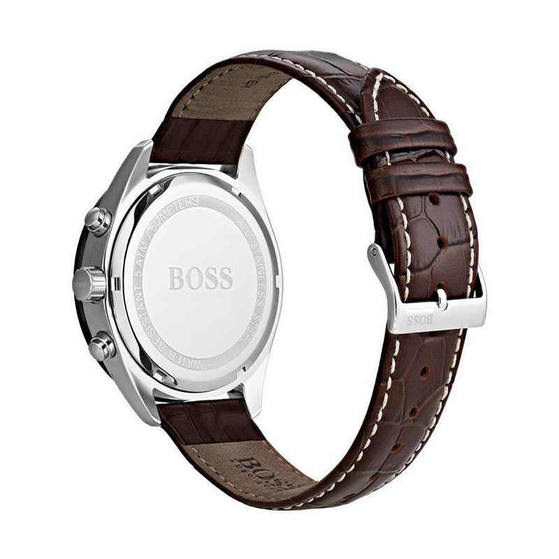 Reloj para hombre con diseño de cuarzo de negocios de cuero marrón, relojes para hombre, marca superior de lujo-1513598