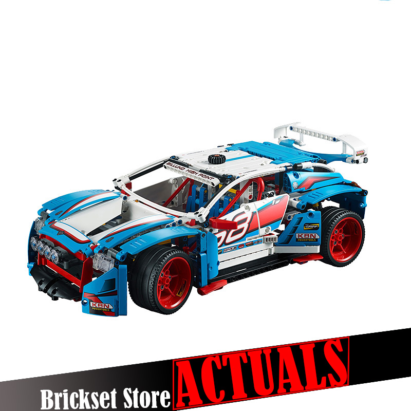 LEPIN 20077 Rally Car Technic Model Building Blocks Bricks Toys For Children brinquedos 1085pcs Compatible with legoINGly 42077 lepin technic city 2 in 1 rally car building blocks set bricks classic model kids toys for children gift compatible legoe