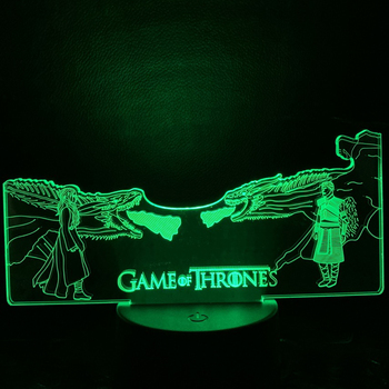 Child Nightlight Game Of Thrones Led Night Light For Adult Mother Of Dragon Vs The Others Night Lamp For Kids Bedroom 3d Lamp vonnegut kurt mother night