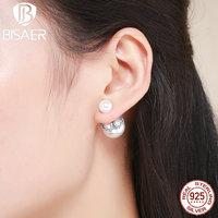 Bohemia Vintage 100 925 Sterling Silver Elegant Korean Stud Earrings For Women Authentic Silver Jewelry Wedding