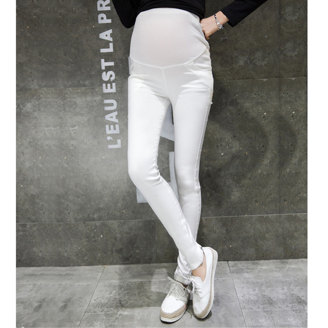 89418b787438f Summer High Waist Black Maternity Pants for Pregnant Women Comfortable Slim  Career Work Trousers Plus Size Maternity Clothes
