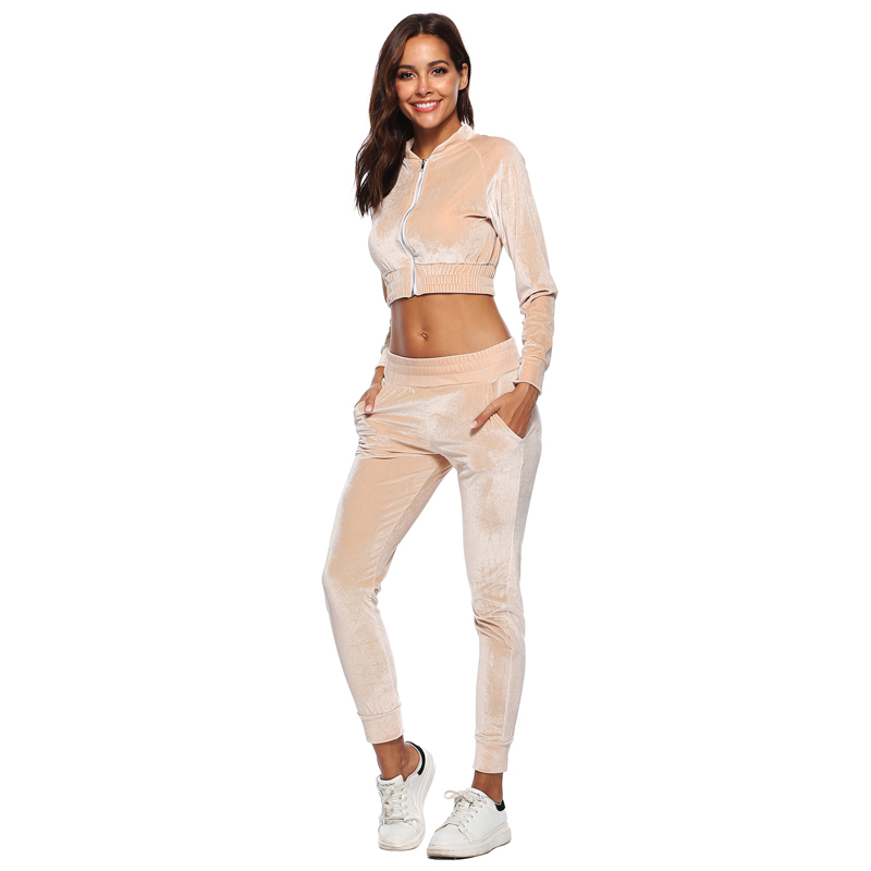 PGSD Sports Suit Tracksuit For Women long sleeved cardigan zipper sweater casual 2 piece Fitness Gym Sportswear Ladies Clothing in Women 39 s Sets from Women 39 s Clothing
