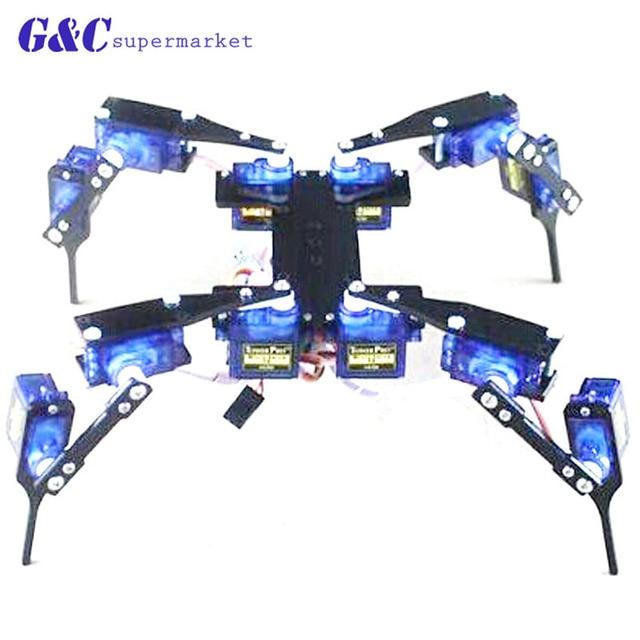 4 أقدام روبوت العنكبوت لاردوينو لتقوم بها بنفسك روبوت عدة 12DOF لا سيرفوس لاردوينو نانو لتقوم بها بنفسك عدة