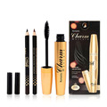 Personal Women Facial Cosmetic Makeup Tools Gold Aluminum Tube Makeup Mascara + Double Color Eyeliner Pen Set