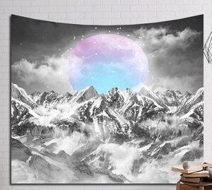 Image 4 - CAMMITEVER platillo volador fantástica noche nube estrellada cueva bosque árbol nieve montaña tapiz colgante de pared hogar arte