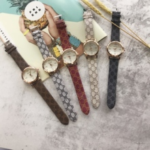 Ms fine quartz costly printed strap delicate dial simple atmosphere ladies watch  luxury women