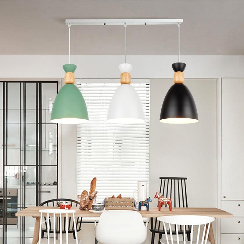 Image 5 - LED Pendant Lamp Modern Hanging Lights Pendant Lighting wood Modern Lighting for Restaurant Pendant Lighting Dining room BedroomPendant Lights   -