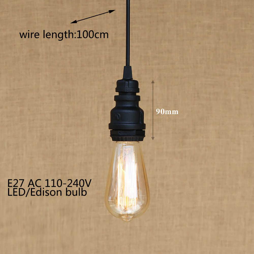 4 стиль лофт промышленный Железный водопровод стимпанк Винтаж шнур для подвесного светильника E27 светодиодные фонари для персонализированные ресторан бар кафе