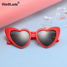 WarBLade/новые детские солнцезащитные очки, Детские поляризованные солнцезащитные очки, очки с сердечком для мальчиков и девочек, гибкие защитные очки