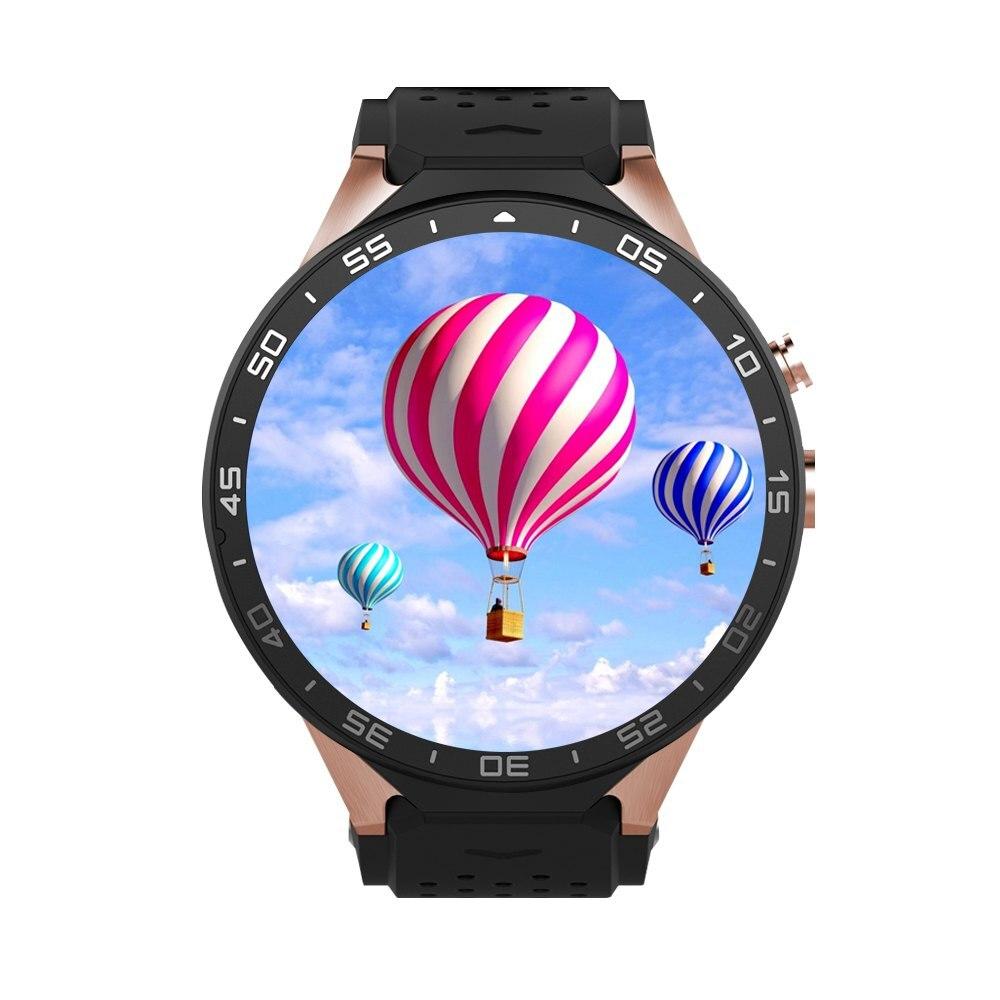 JRGK KW88 Bluetooth 4.0 montre intelligente Android 5.1 MTK6580 Wifi Smartwatch 3G GPS montre téléphone avec caméra 2.0MP PK GT08 K88H DZ09