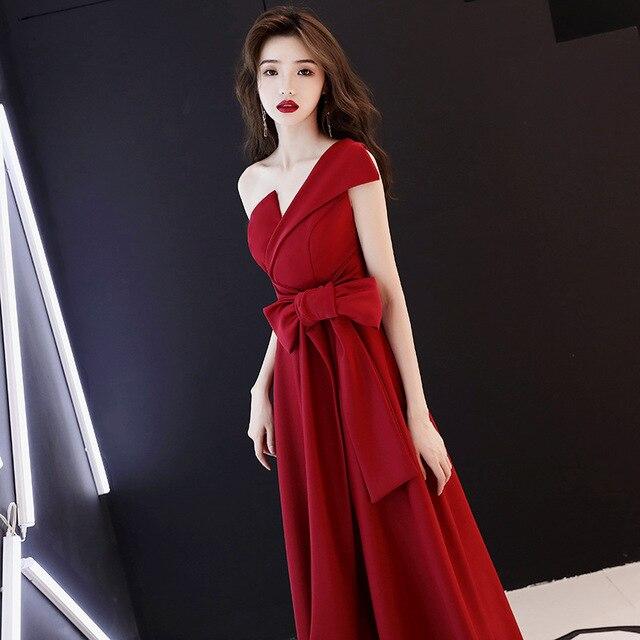 88ce7782cc Red Bride Fashion Dresses Women Sexy V-Neck One-Shoulder Sleeveless Plus  Size Party Club Night Long Dress vestidos robe femme