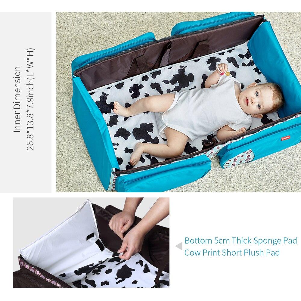 Bolsa de pañales de bebé bolsa de pañales de moda bolsa de papá mochila de cuidado de bebé mamá mochila de viaje bolso de hombro para cochecito de bebé - 5