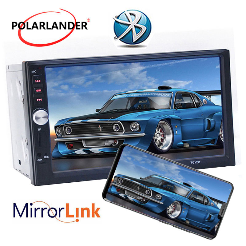 Autoradio Mirror Link Radio Cassette Player 2 DIN 7 Inch Car Radio Touch Screen Bluetooth FM MP5 Video Player Auto Tapes