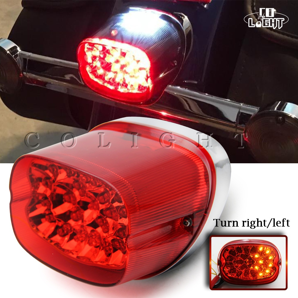 CO LIGHT Motorcycle Motorbike LED Tail Light Brake Stop Turn Signals Reverse Lamp For Harley Davidson 883 DC 12V LED Rear Light