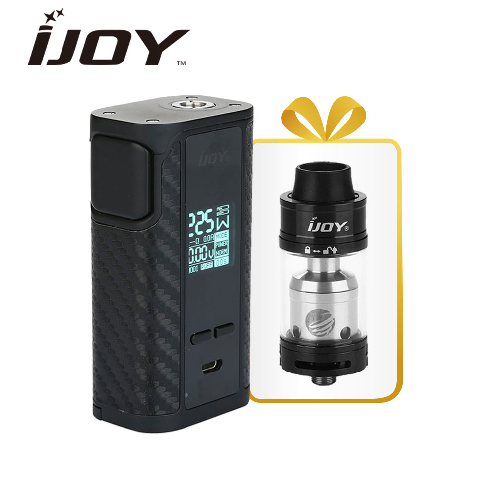 Gift! 225W IJOY Captain PD1865 TC Box MOD W/ Tornado RDTA Tank 5ml  Atomizer Vaping CAPTAIN PD1865 Kit No 18650 Battery Original