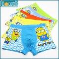 5 Piece/lot  Kids Boys Underwear Despicable Me/Minions Panties Children's Pants Modal Baby Boxer Underpants Briefs Underware