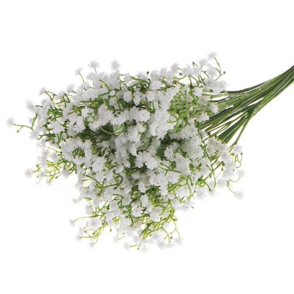 5PCS Artificial Flower Decorations Starry Simulation Pu Fake Flower Bouquet Of Silk Plastic Stars