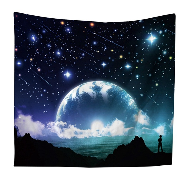 US $5 27 15% OFF|Hot Night Sky Tapestry Beautiful Night Sky Tapestry Wall  Hanging Forest Starry Night Tapestry For Living Room Bedroom-in Tapestry