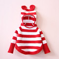 Kids sweaters girls striped baby girl sweater cotton knit children sweater long sleeve girls cloak hooded sweater jackets 2-8T