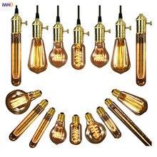 IWHD лампада Ретро Винтаж лампа Эдисона E27 40 Вт 220 В промышленный Декор Эдисона лампа светильник лампочки с ампулой Bombillas Gloeilamp