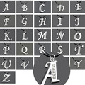 26pcs Fashion English Letter Pendant Rhinestone Alphabet Letters A-Z Necklace Best Friendship Lover Jewelry Gift