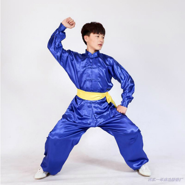 Wushu Uniform Stage Performance Long Sleeve Tai Chi Clothing Kung Fu Suits Taijiquan Practice Performance Wear Kid To Adult