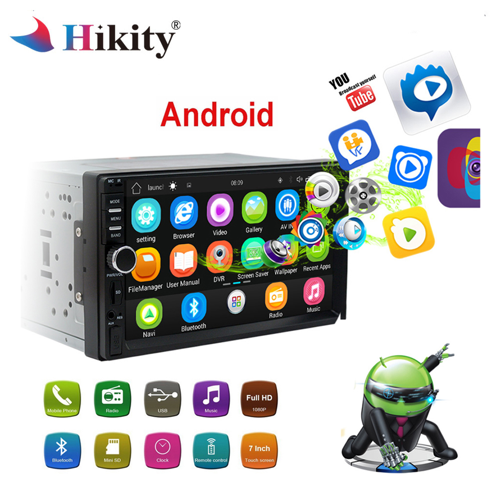 Hikity Android Car Radio 2Din GPS Navigation Bluetooth 7HD Touch Screen Autoradio AUX MP3 MP5 Player FM Stereo Rear View CameraHikity Android Car Radio 2Din GPS Navigation Bluetooth 7HD Touch Screen Autoradio AUX MP3 MP5 Player FM Stereo Rear View Camera