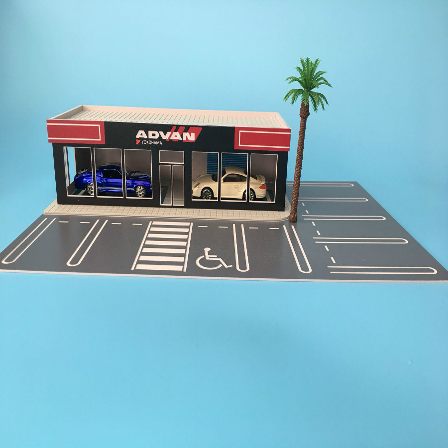 US $23 63 8% OFF|1/64 car model scene exhibition hall repair modified  factory architecture diorama ho train N scale railway layout-in Model  Building