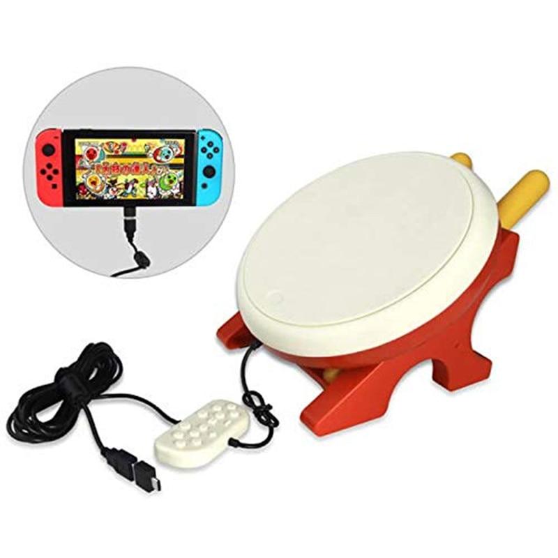 Pour Taiko tambour jeu vidéo baguettes de batterie poignée USB Kit pour n-switch contrôleur Console accessoires de jeu DC 5 V - 6