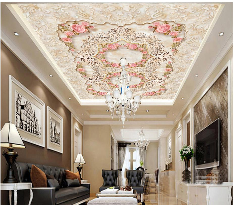 European style villa living room ceiling zenith ceiling 3d for Ceiling images hd