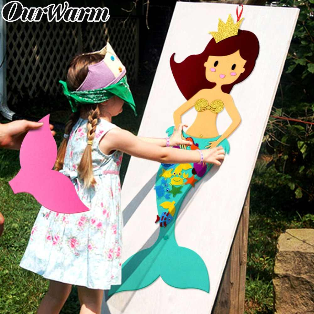 OurWarm Felt DIY Craft Mermaid Themed Birthday Party Supplies Handmade DIY Birthday Gift Toy for Kids Mermaid Party Decorations