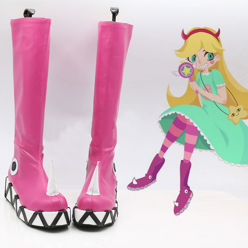 Star Vs. The Forces Of Evil Cosplay Boots Shoes Custom Made Princess Star Butterfly Shoes European Size