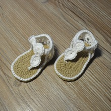 QYFLYXUE-Freeshipping baby Crochet  shoes, Newborn size 0-12M cotton baby  8CM 9CM 10CM 11CM ,Pure cotton baby sandals цена